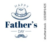 happy father's day card. cute... | Shutterstock .eps vector #1335891425