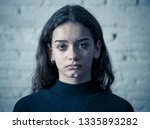 dramatic closeup portrait of...   Shutterstock . vector #1335893282