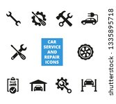 car service and repair icons... | Shutterstock .eps vector #1335895718