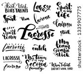 lacrosse lettering. quote and... | Shutterstock .eps vector #1335907775