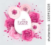 happy easter day design with... | Shutterstock .eps vector #1335913235
