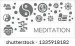 meditation icon set. 11 filled...   Shutterstock .eps vector #1335918182