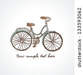 vintage bicycle. vector...