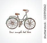 vintage bicycle. vector... | Shutterstock .eps vector #133593062
