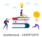 character open the book with a... | Shutterstock .eps vector #1335971075
