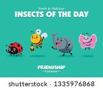 vintage insects poster design... | Shutterstock .eps vector #1335976868