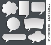 speech bubbles set with shadows.... | Shutterstock .eps vector #1335982622