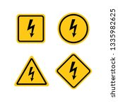 high voltage attention icon.... | Shutterstock .eps vector #1335982625