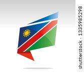new abstract namibia flag...   Shutterstock .eps vector #1335985298
