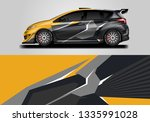 car wrap decal design vector.... | Shutterstock .eps vector #1335991028