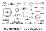 vintage decor elements and... | Shutterstock .eps vector #1336010792