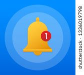 notification bell icon for...