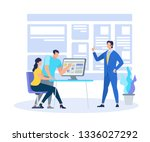 business coach demonstrating... | Shutterstock .eps vector #1336027292