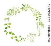 green leave watercolor on white ... | Shutterstock . vector #1336032842