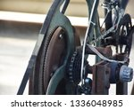 the snake molts on the machine.   Shutterstock . vector #1336048985