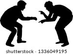 training men. black silhouettes. | Shutterstock .eps vector #1336049195