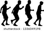 silhouettes of running men.   Shutterstock .eps vector #1336049198