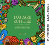 pet care supply funny poster...   Shutterstock .eps vector #1336055018