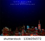 modern city life abstract... | Shutterstock .eps vector #1336056572