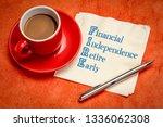 fire acronym   financial... | Shutterstock . vector #1336062308