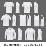 male fashion  t shirt templates ... | Shutterstock .eps vector #1336076165