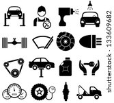 car maintenance and repair icon ... | Shutterstock .eps vector #133609682