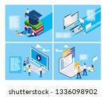online education with mini... | Shutterstock .eps vector #1336098902