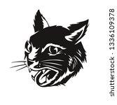 Hand Drawn Vintage Black Cat...