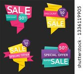 shop sale and promotion... | Shutterstock .eps vector #1336119905