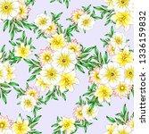 flower print. elegance seamless ... | Shutterstock .eps vector #1336159832