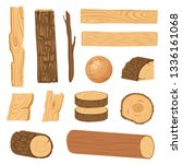 set of icons of textured wooden ...   Shutterstock .eps vector #1336161068