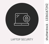 data security   outline vector... | Shutterstock .eps vector #1336167242