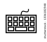 keyboard simple icon vector