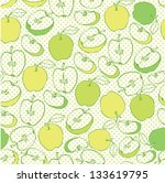 seamless green apples pattern... | Shutterstock .eps vector #133619795