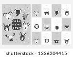 calendar 2020. stock vector.... | Shutterstock .eps vector #1336204415