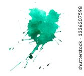 abstract watercolor background. ... | Shutterstock . vector #1336207598