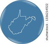 vector map of west virginia | Shutterstock .eps vector #1336214522