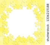piece puzzle background  banner ...   Shutterstock .eps vector #1336215188