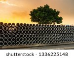 Row Of Storage Sewage Drainage...