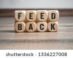 cubes dice with feedback on... | Shutterstock . vector #1336227008