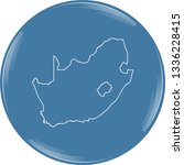 vector map of south africa | Shutterstock .eps vector #1336228415