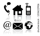 vector contact icons   Shutterstock .eps vector #133622906