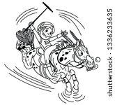 cartoon equestrian polo sport . ... | Shutterstock .eps vector #1336233635