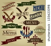 menu calligraphic designs | Shutterstock .eps vector #133623398