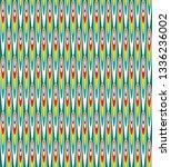 the traditional uzbek atlas...   Shutterstock .eps vector #1336236002
