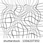 abstract black and white modern ... | Shutterstock . vector #1336237352