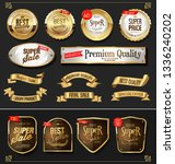 retro golden labels and badges... | Shutterstock .eps vector #1336240202