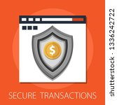 vector secure transaction and... | Shutterstock .eps vector #1336242722