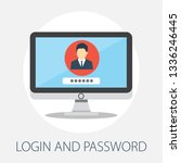 vector illustration of security ... | Shutterstock .eps vector #1336246445