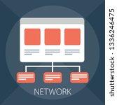 vector organization chart ... | Shutterstock .eps vector #1336246475